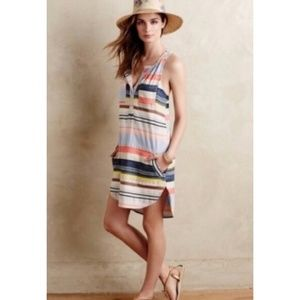 Anthropologie The Odells Mixed Striped Tunic Dress